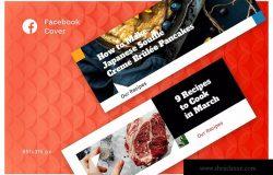 西餐品牌社交推广Facebook封面设计模板