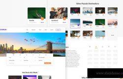 旅行/旅游主题网站设计XD模板