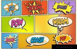 美式新漫画风格海报字体设计