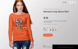 长款女上衣T恤印花设计样机模板v15 Ultimate Apparel Mockup Vol. 15