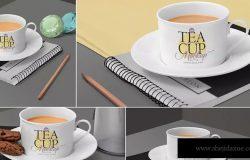 茶杯陶瓷杯外观设计样机模板