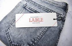 牛仔服装吊牌标签设计样机模板