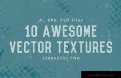 10款半色调圆点纹理矢量背景素材 Halftone Dots Texture Pack Background