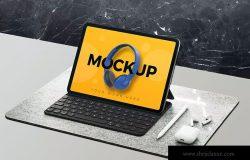 平板电脑屏幕预览设计图样机 Tablet Mockup