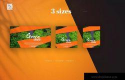 橙色社交媒体新媒体营销推广设计素材 Orange Social Media Banners Pack