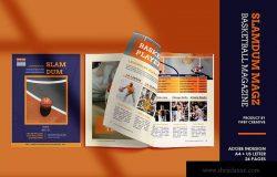 体育运动主题杂志设计InDesign模板 Slamdum – Sport Magazine Template