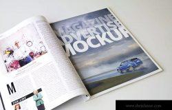 杂志广告设计印刷效果图样机模板v2 Magazine Advert Mockups
