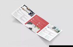 方形三折页个人彩色简历版式设计模板 Brochure – Resume Tri-Fold Square