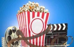 电影之夜爆米花电影院场景样机模板 Movie Night Mockup