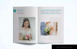 婚纱/女装服装品牌产品画册目录Lookbook设计模板