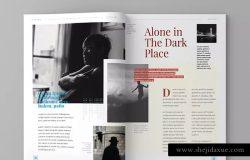 高端商务企业品牌杂志/企业画册模板V16 Magazine Template