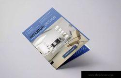 室内装修设计双折页尺寸画册INDD模板 Onyx – Interior Bifold Brochure Template