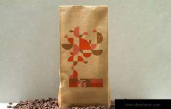 咖啡豆牛皮纸袋包装设计样机 Coffee Craft Bag Mockup