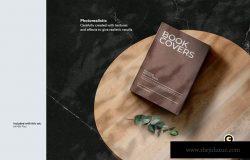 牛皮纸精装图书封面设计样机套件 Book Cover Mockups kit