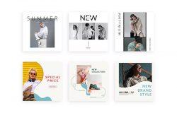 夏季新品发布社交促销Instagram帖子模板