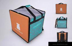 外卖送餐背包设计效果图样机 Food Delivery Backpack Mock-Up