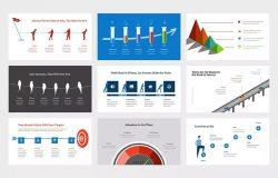 时间轴信息图表设计Keynote幻灯片模板