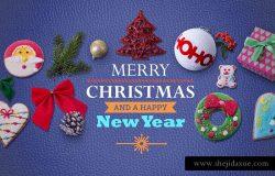 PSD | 圣诞节主题广告超高分辨率场景元素礼盒80个节日用品图像场景