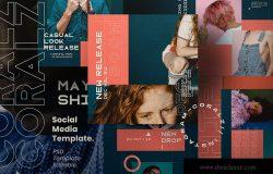 社交媒体品牌故事推广设计素材 CORALZ – Social Media Template + Stories
