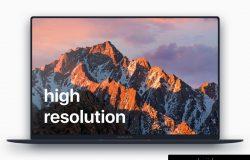 扁平化的MacBook Pro的样机PSD下载