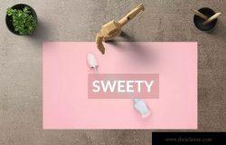 美容化妆品项目推介PPT幻灯片模板 SWEETY Powerpoint Template