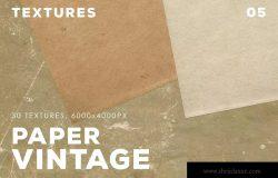 30款复古纸张肌理纹理设计素材v5 30 Vintage Paper Textures
