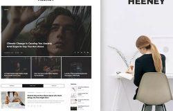 时尚博客故事网站设计PSD模板