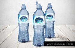 矿泉水蒸馏水瓶罐样机v2 Water Bottle V.2 Mockup