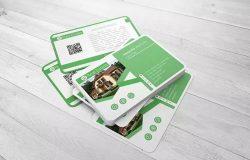 企业名片设计堆叠样机模板 Business Card Mock-Up