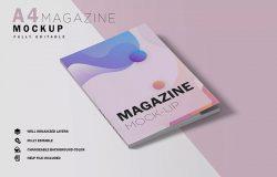 杂志封面设计样机模板素材