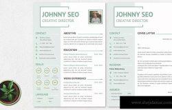 标准式两页排版风格电子简历设计模板 CV Resume Simple And Modern