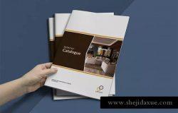 企业内宣产品目录设计INDD模板 Interior Catalogue Template
