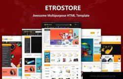 Bootstrap架构响应式多用途网上商城HTML5模板 EtroStore – Responsive Multi-Purpose HTML Templat