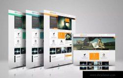 网站设计效果图多视觉预览样机模板 Website Display Mockup