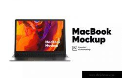 Macbook笔记本电脑屏幕演示前视图样机模板 MacBook Mockup front view