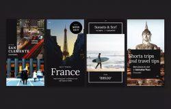 摄影作品展示/服装促销适用新媒体社交媒体Banner模板合集v2 Instagram Stories — Promotion Pack (Set 2)
