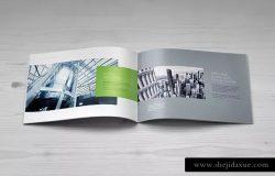 宣传画册设计样机模板 Landscape Brochure Mock-Up Set