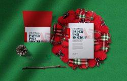 圣诞节A5海报邀请贺卡样机