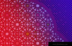多彩渐变几何网格元素背景图案设计