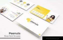 企业推介企业宣传PPT设计模板 Peenuts – Powerpoint Template