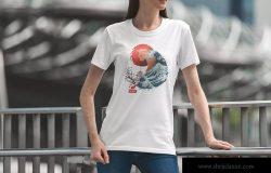 城市系列-印花T恤产品展示样机模板