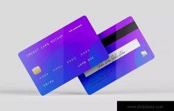 信用卡/银行卡/会员卡设计效果图样机模板