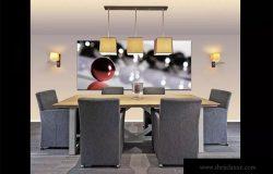 奢华餐桌场景画框样机模板