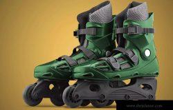 旱冰鞋溜冰鞋外观设计样机模板