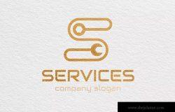 字母S-商业Logo标志设计模板