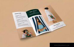 三折页时尚策划公司宣传单设计模板