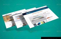 网站界面设计截图3D预览样机模板v3 3D Web Presentation Mockup (V3)