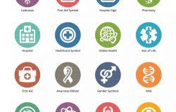 Colored系列-医疗保健主题矢量图标集