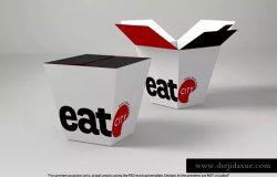 快餐食品小食外带包装设计样机模板v3 Fast Food Boxes Vol.3: Take Out Packaging Mock Ups