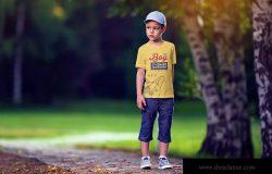 男童T恤胸前印花图案设计预览样机模板v2 Boy T-Shirt Mock-Up Set 2